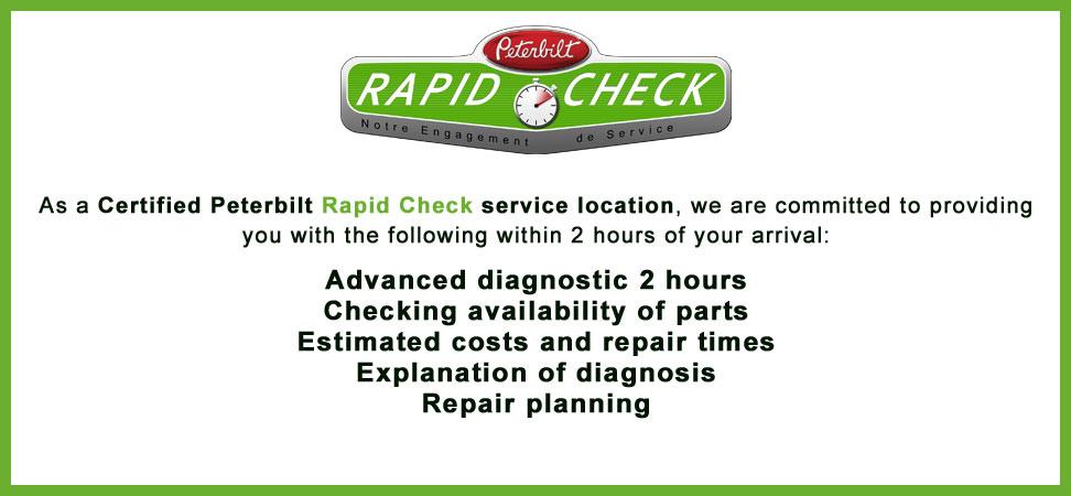 Certified Peterbilt Rapid Check service Location