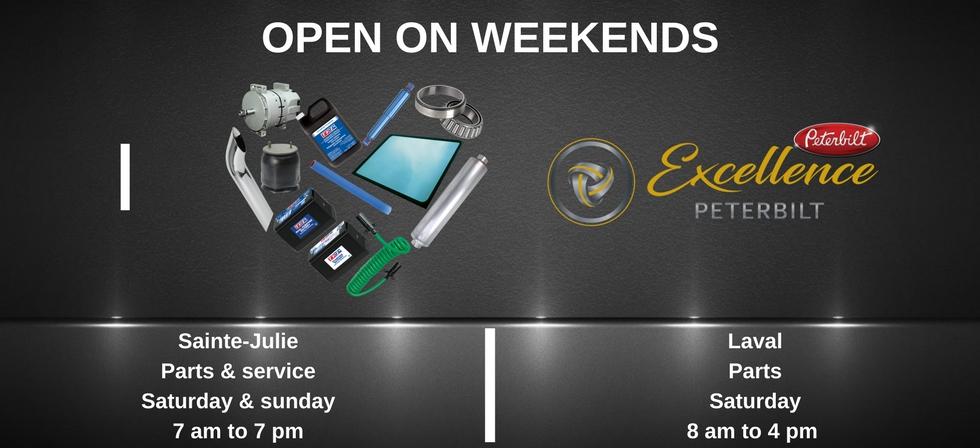 excellence peterbilt open weekend