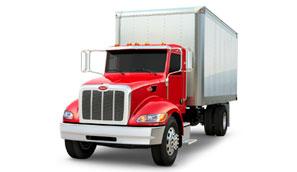 Camion Peterbilt 337 boîte fermée