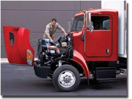 Camion Peterbilt modèle 348 est facile d'entretien