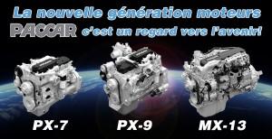 Moteurs Paccar PX-7, PX-9 et MX-13