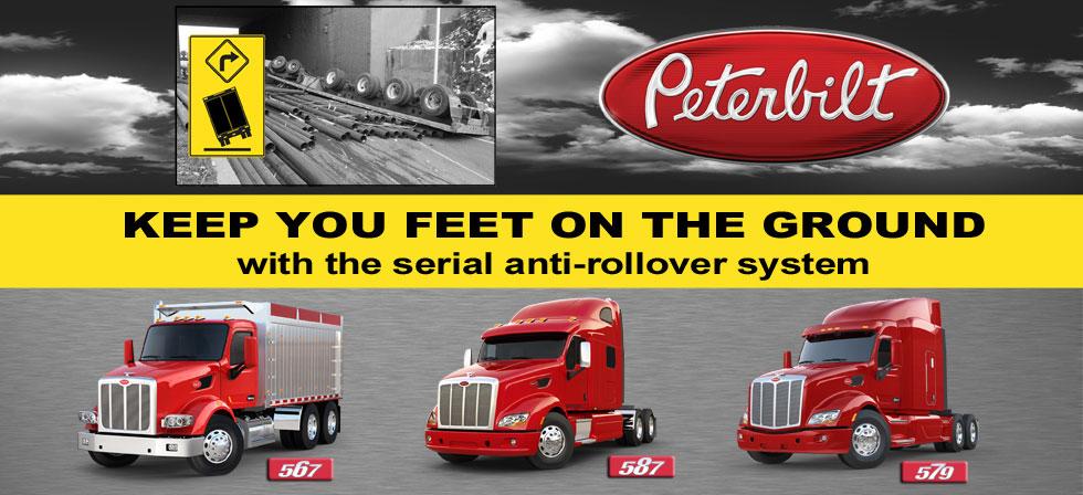 Anti-rollover system Peterbilt trucks