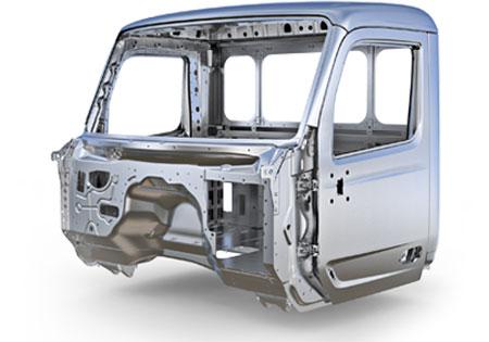 Cabine entièrement faites en aluminium pour le Peterbilt 579