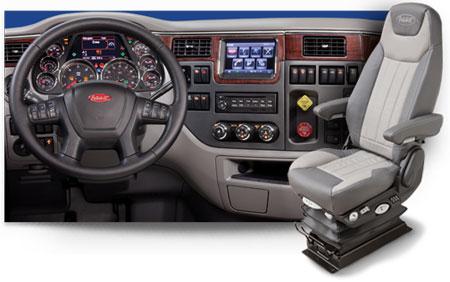 Toute l'intérieure de la cabine a été pensé en fonction du conducteur et de son confort