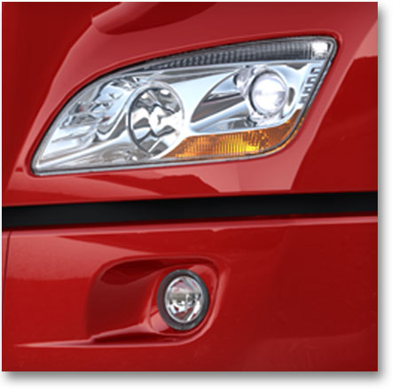 Visibilité supérieur en tout temps grâce au phares hautes performance du modèle 579