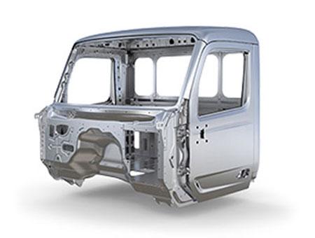La cabine du Peterbilt 567 est faite en aluminium