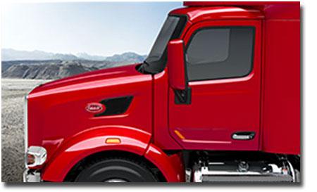 Le camions Peterbilt 567 ofrre une visibilité incroyable