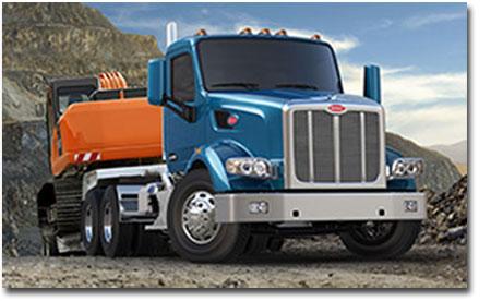 Le modèle 567 est disponible en configuration 1, 2 ou 3 essieux arrières, et essieu avant avancé ou reculé