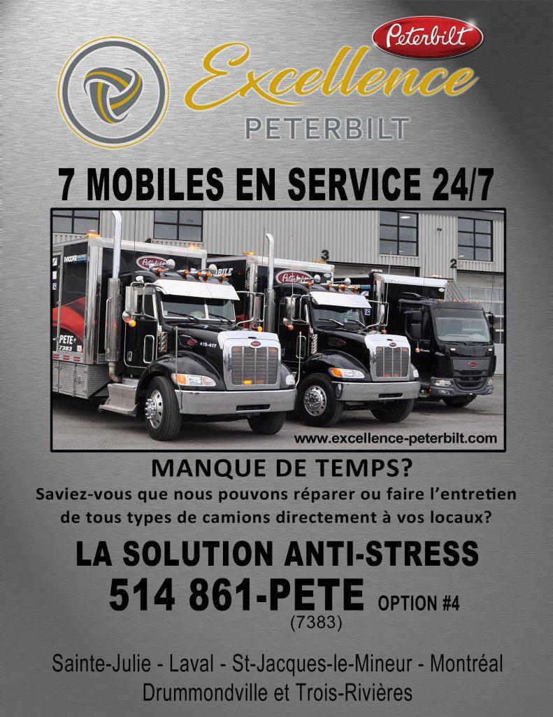 Service unités mobile offert par Camions Excellence Peterbilt
