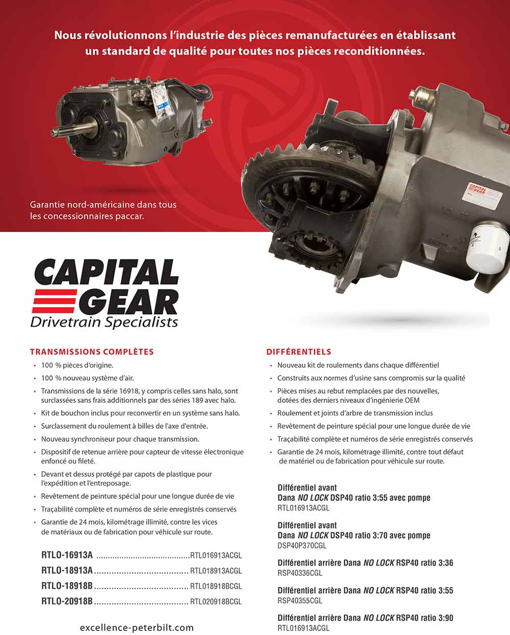 transmission et differentiel reconditionnés Capital Gear