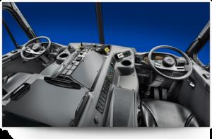 La cabine du Peterbilt 520 à été ergonomiquement redessinée pour un meilleur confort et productivité des chauffeurs