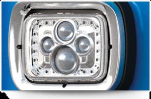 Des phares aux LED sont disponibles en option sur le camion 520 de Peterbilt