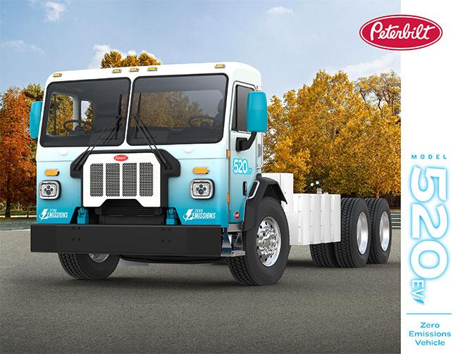 Peterbilt 520EV electrical truck zero emission