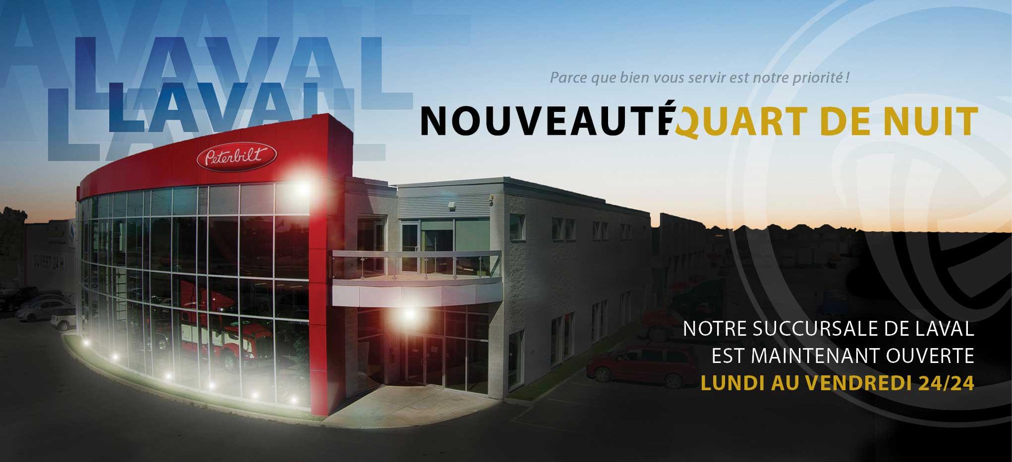Quart de nuit chez Excellence Peterbilt Laval