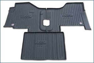 Minimizer floor mats for Peterbilt truck model 579 with manual transmission