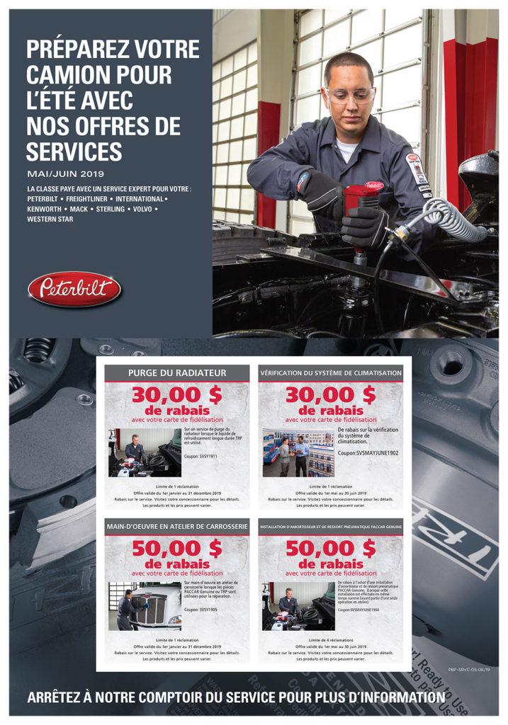 offres service camions peterbilt mai 2019