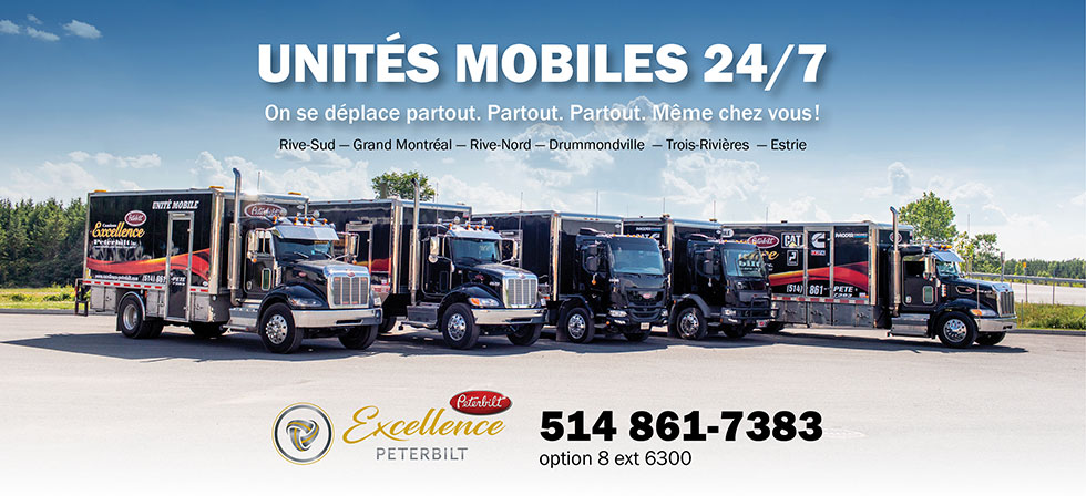 Unité mobile pour Camions Excellence Peterbilt