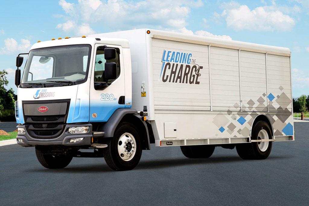 Camion électrique Peterbilt modèle 220EV