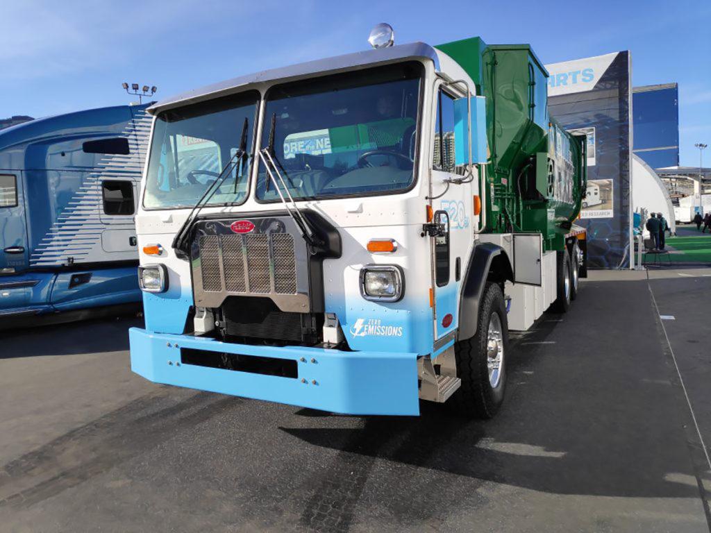 Camion électrique à rebuts Peterbilt 520EV