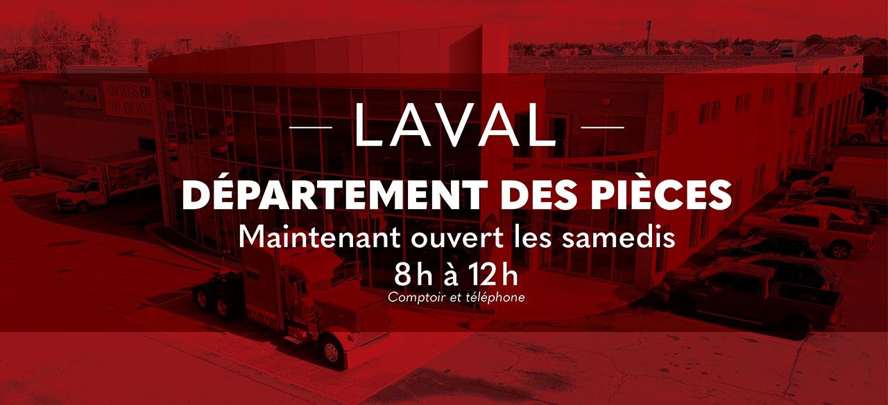 Département des pièces de camions Peterbilt de Laval