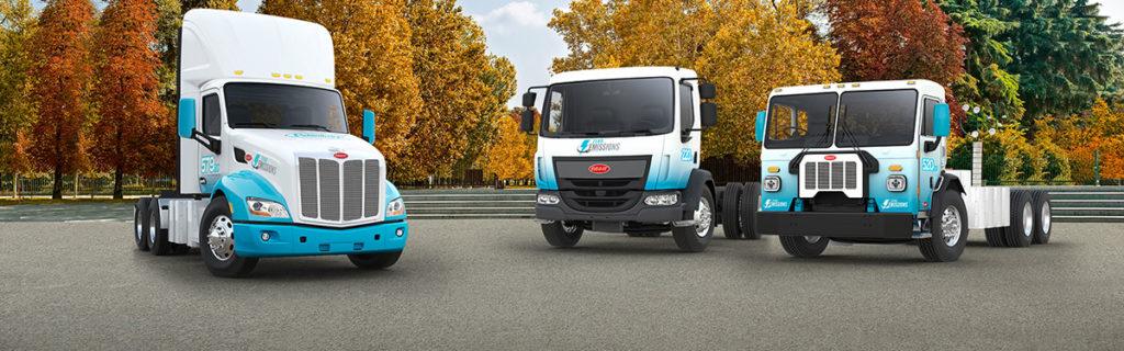 Modèles de camions lourds électriques de Peterbilt