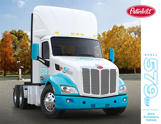 Peterbilt electric truck 579EV
