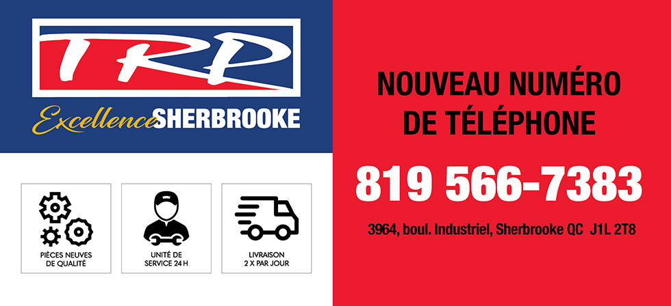 Pièces de camion lourd TRP-Sherbrooke nouveau numéro de téléphone