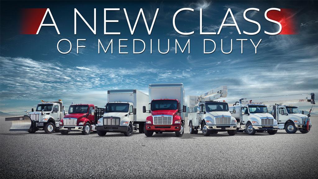 New Peterbilt medium duty trucks