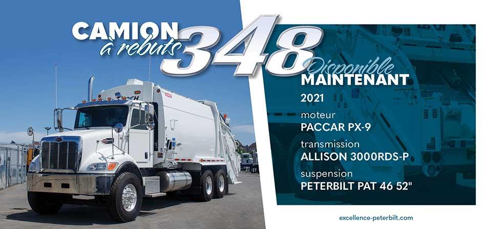 Camion à rebut Peterbilt modèle 348
