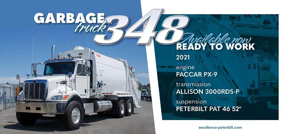 Peterbilt 348 Garbage truck