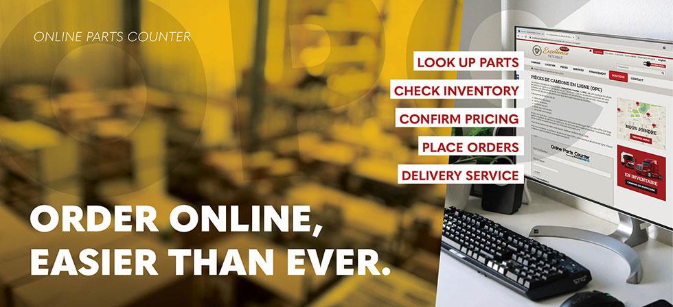 Order heavy truck parts online