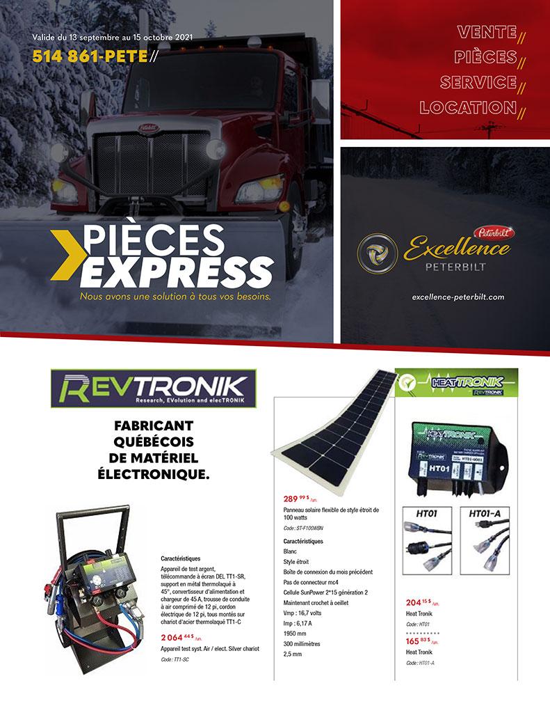 Promotions pièces de camions Peterbilt